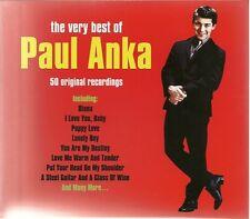 THE VERY BEST OF PAUL ANKA - 2 CD BOX SET - 50 ORIGINAL RECORDINGS