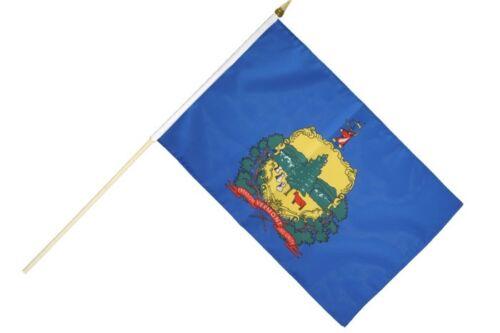 USA Vermont Stockflagge Flaggen Fahnen Stockfahne 30x45cm