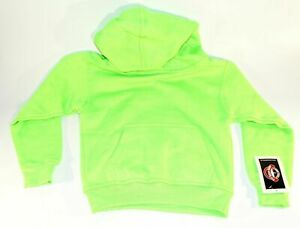 New Youth Hoodie Pullover Hooded Sweatshirt Neon Green Area Code 212 Small 6-8