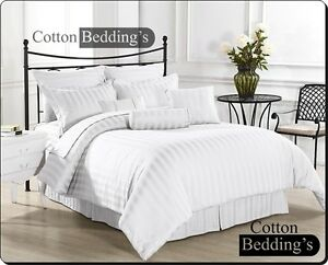 1000-TC-100-Egyptian-Cotton-All-UK-Size-Hotel-Scala-Bed-Linen-in-White-Striped