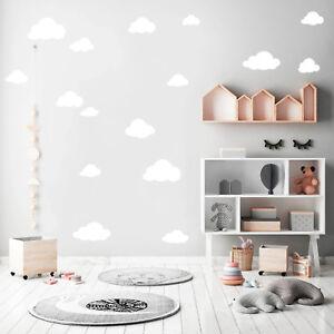 Wandtattoo Wolken Set Farbe Weiss 12356 Cloud Kinderzimmer Deko Baby Himmel Decor Ebay