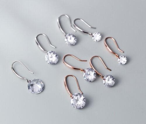 Womens Girls Crystal Earrings Drop Dangle Hook 925 Sterling Silver Jewellery