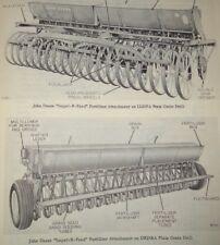 John Deere Impel R Feed Grain Drill Fertilizer Attachment Parts Catalog Manual