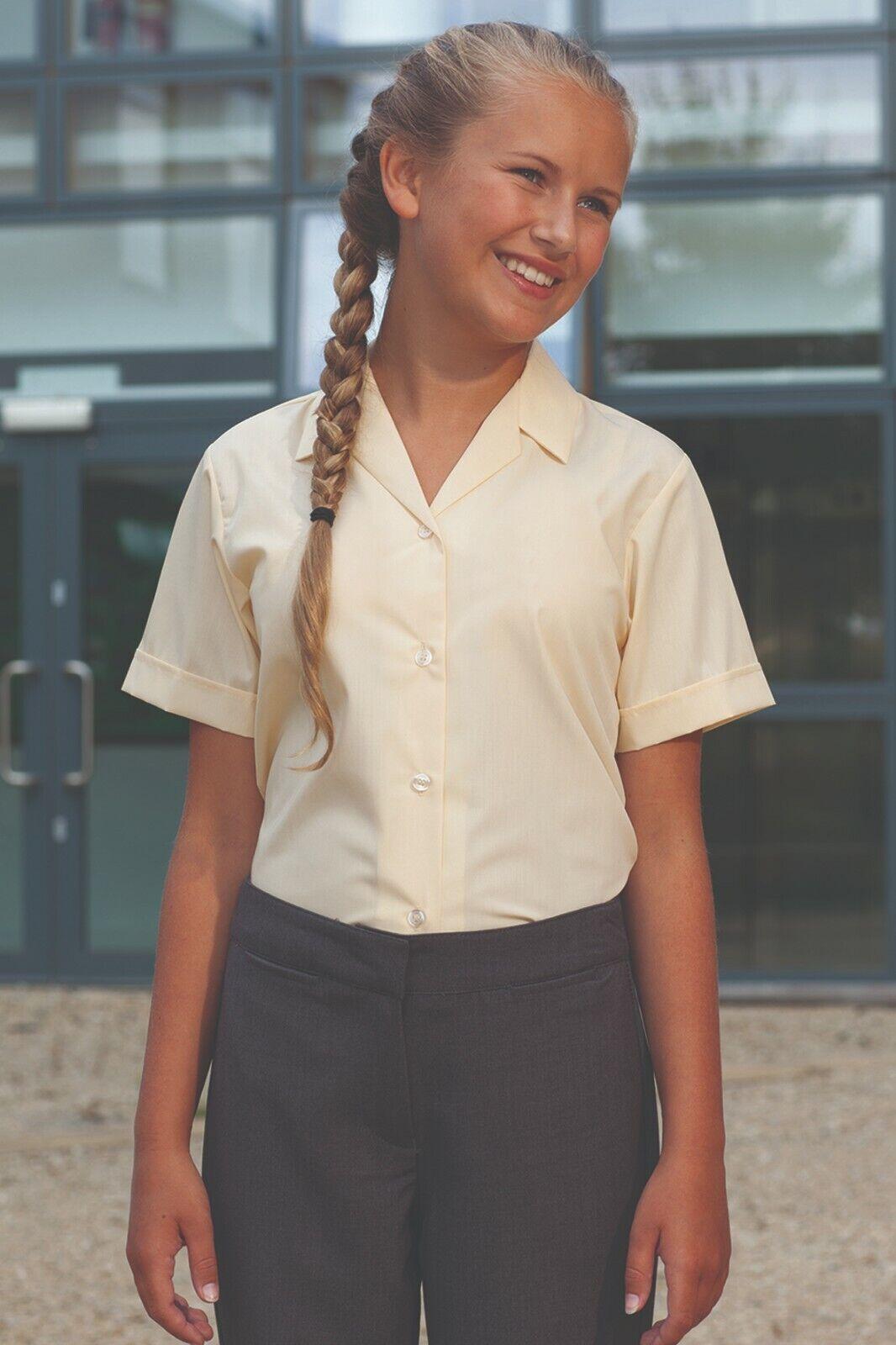 Blue Max Banner Girl/'s Revere Twin Pack Short Sleeve School Blouse ...