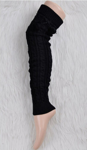 Leg Warmer Women Knit Thick Long Over Knee High Hosiery Socks Keep Warm  JP