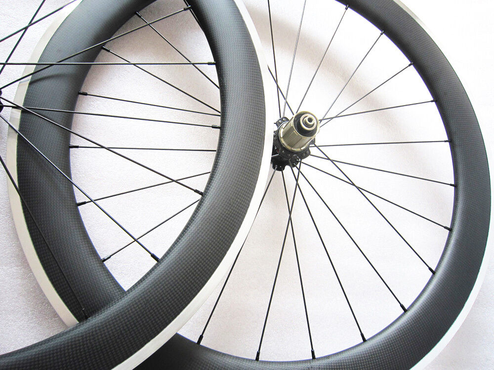 Speedcarbon 60mm clincher carbon road bike wheelset 700C alloy brake surface