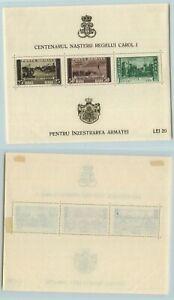 Romania-1939-SC-488a-mint-Souvenir-Sheet-f9877