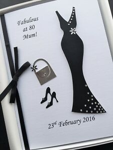 Image Is Loading 80th BIRTHDAY CARD FOR WOMEN Personalised Handmade Gift