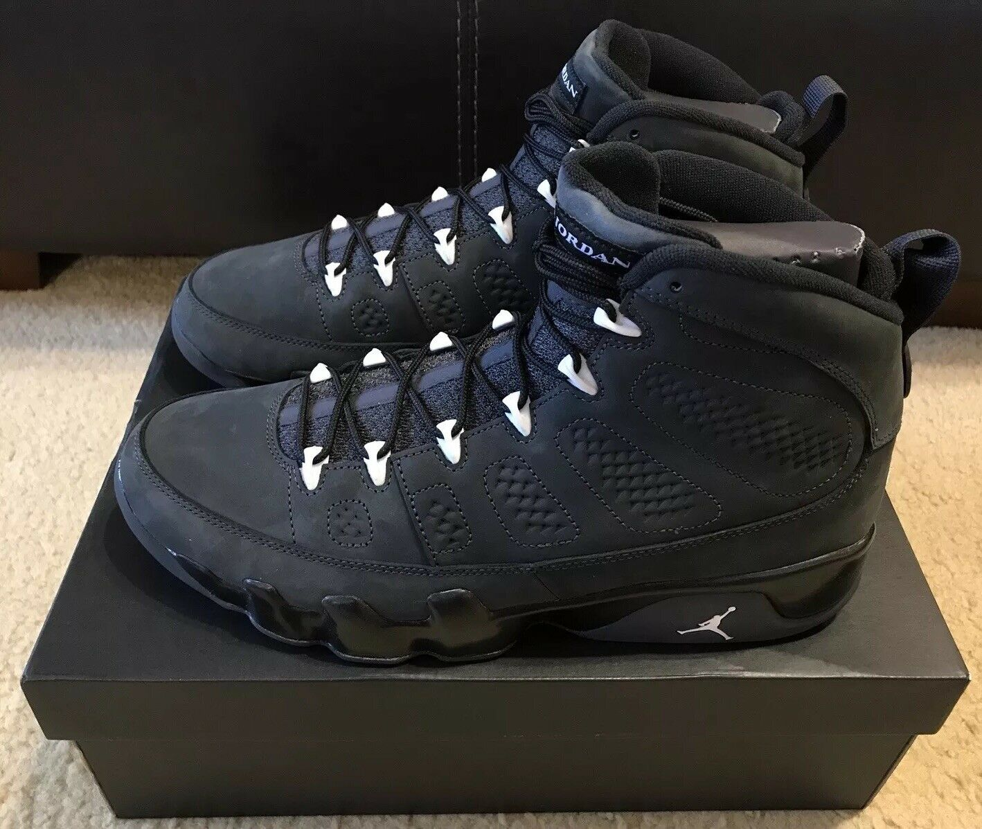 Nike Air Jordan 9 IX Retro Uomo Uomo Uomo sz 12 Anthracite bianca nero 302370 013 NIB DS 7bc4c5