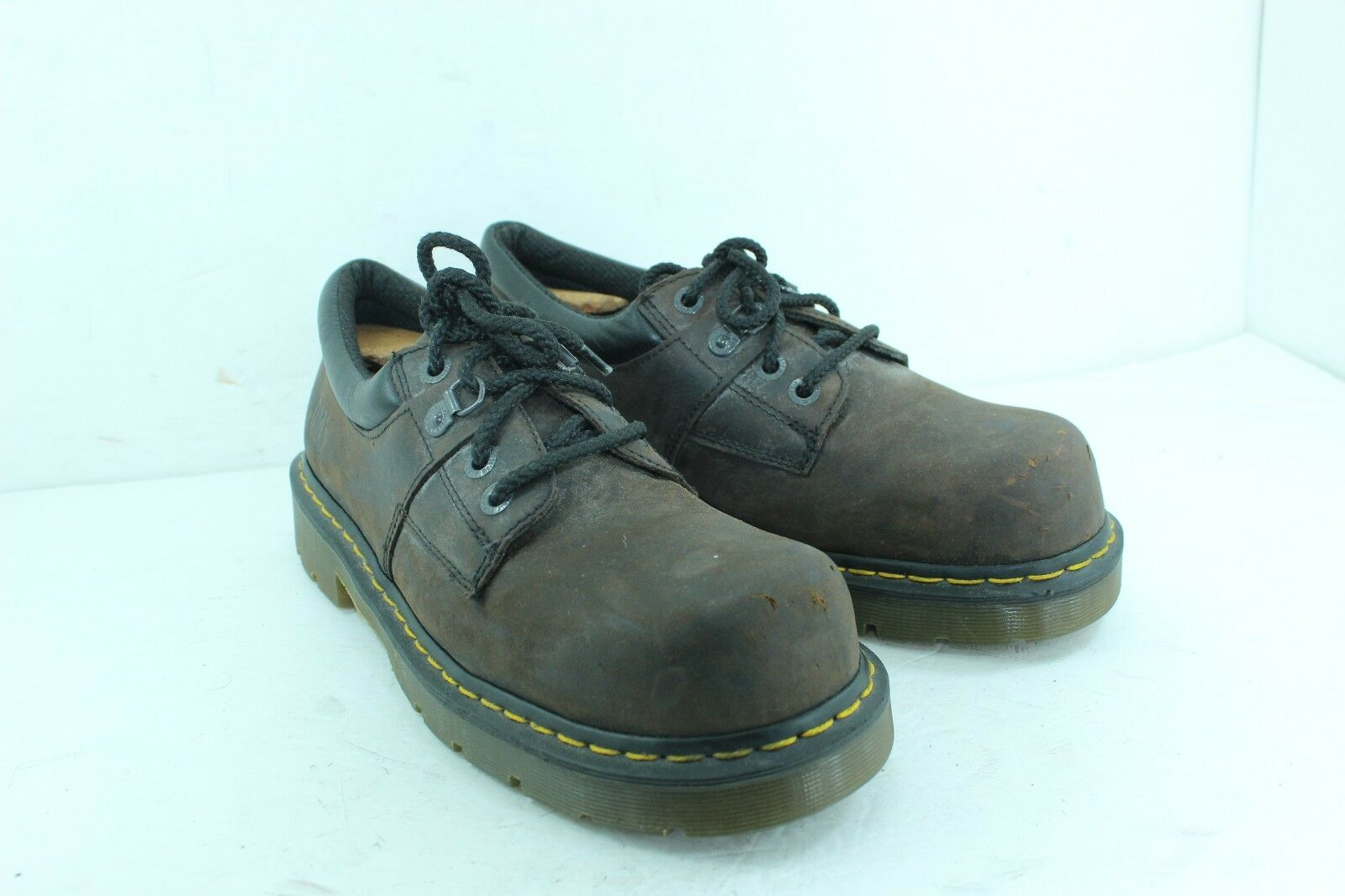 DR MARTENS DM'S INDUSTRIAL SIZE 11 BROWNS STEEL TOE IN GREAT CONDITION