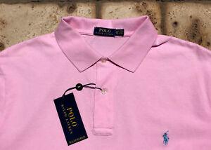 Polo Ralph Lauren Mesh Shirt Mens 2XLT Pink wLight Blue Pony  98 ... e4ff7a9f62085