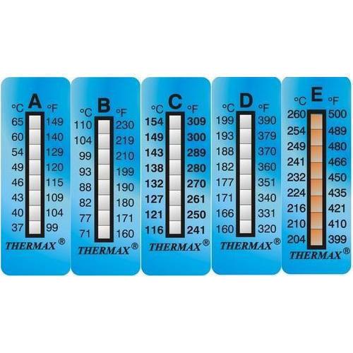 TERMOMETRO PER PINZE FRENI Thermax  E range 204-260 C°  2 strisce adesive