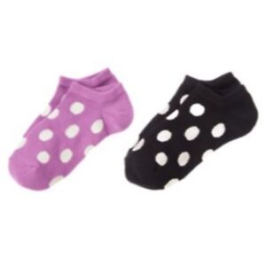 NWT-Gymboree-Girl-L-3-amp-Up-POSH-AND-PLAYFUL-Purple-Black-Dotted-Ankle-Socks-NEW