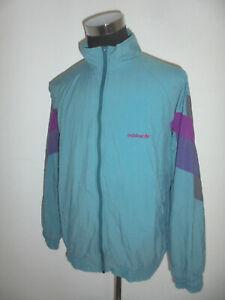 vintage-80-s-ADIDAS-Nylon-Jacke-Sportjacke-Trainingsjacke-oldschool-D8-L-XL