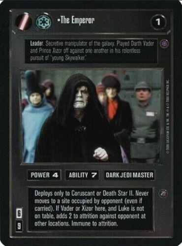 The Emperor   Star Wars CCG REFLECTIONS II PREMIUM NM swccg