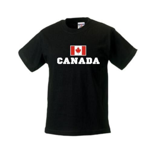 Kinder T-Shirt KANADA WMS02-33f Canada Flagshirt Ländershirt Kids Fanshirt
