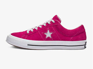 389a77c573373a Converse Unisex ONE STAR VINTAGE SUEDE LOW TOP Shoes Pink Pop White ...