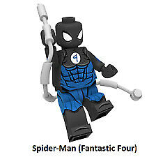 New Minifigure Rare Lego MOC Spider-Man Fantastic Four Character DC Comics