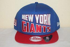 1e33a82e65b New Era New York Giants Word Split NFL Snapback 9Fifty Cap Hat Red ...