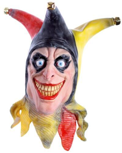Horror Clown Maske aus Latex schockt nicht nur zu Karneval