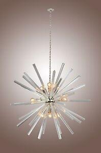 Image Is Loading Axis Chandelier Orbit Sputnik Lamp 9 Light Crystal