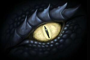 A1-Dragon-Eye-Poster-Art-Print-60-x-90cm-180gsm-Magical-Fantasy-Fun-Gift-8799
