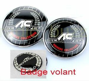 kit 3 badge ac schnitzer bmw embleme capot coffre volant logo 82 73 45mm ebay. Black Bedroom Furniture Sets. Home Design Ideas