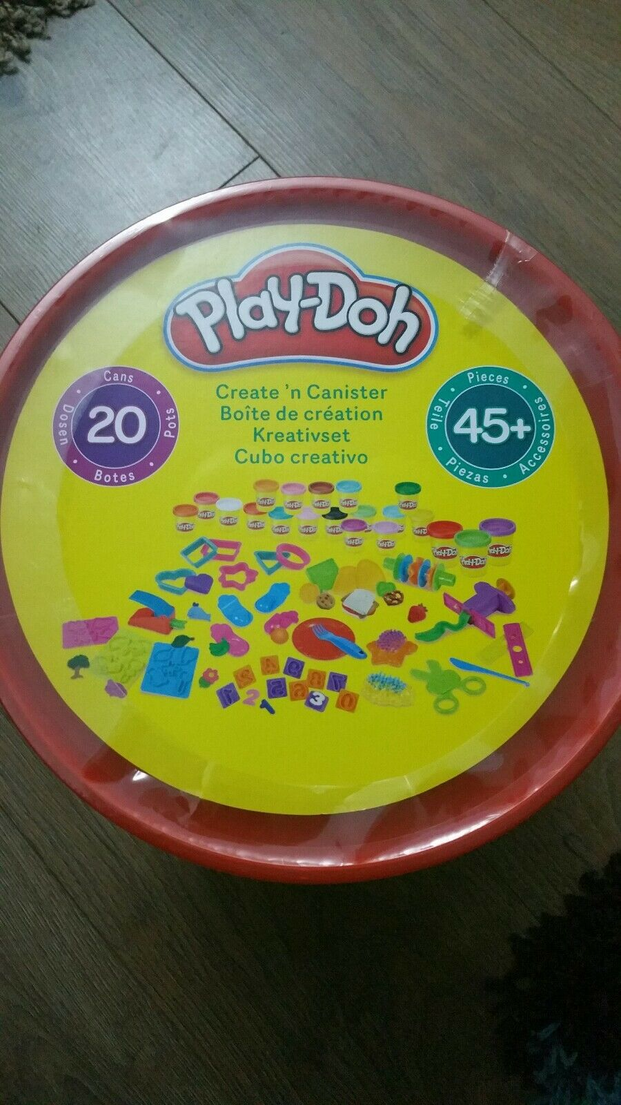 PlayDoh Create N Canister, 20 Tubs, 45 Accessories. NEW sealed Christmas Present