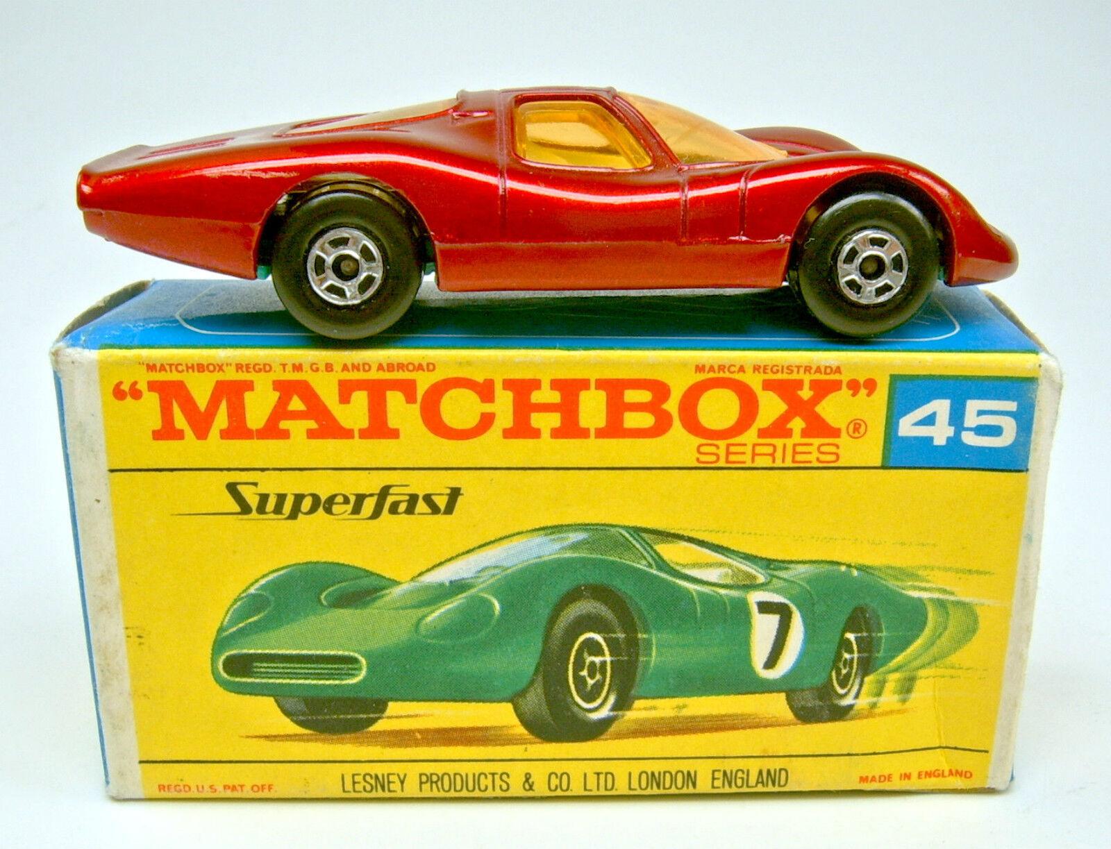 MATCHBOX SF N. 45a FORD group 6 Coloree púrpura METALLIZZATO verde bodenpl. Top in box