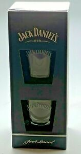 TWIN-PACK-OF-JACK-DANIELS-GLASSES-GIFT-SET-PUB-BAR-WHISKEY-2-TWO-TUMBLER-PAIR