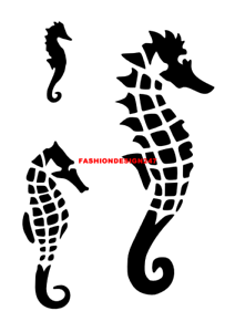 A7,A6,A5 SEA LIFE FISH MYLAR STENCIL HOME DECOR PAINTING WALL ART 190 MICRON