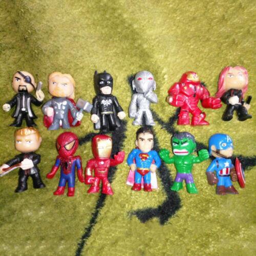 12Pcs//Pack Thor Hulk Gladiaor Lok Super Hero Action Figure Toys Gift For Kids