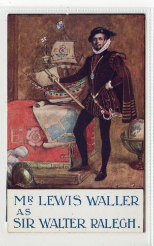 """SIR WALTER RALEIGH"" Theatre Advertising postcard C19216"