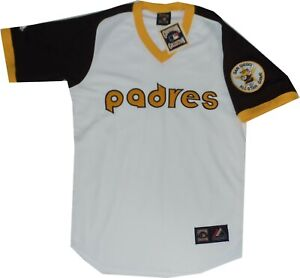 sneakers for cheap 65b74 2299b Details about New San Diego Padres Throwback Jersey Cooperstown Majestic  A6240 $150 Medium