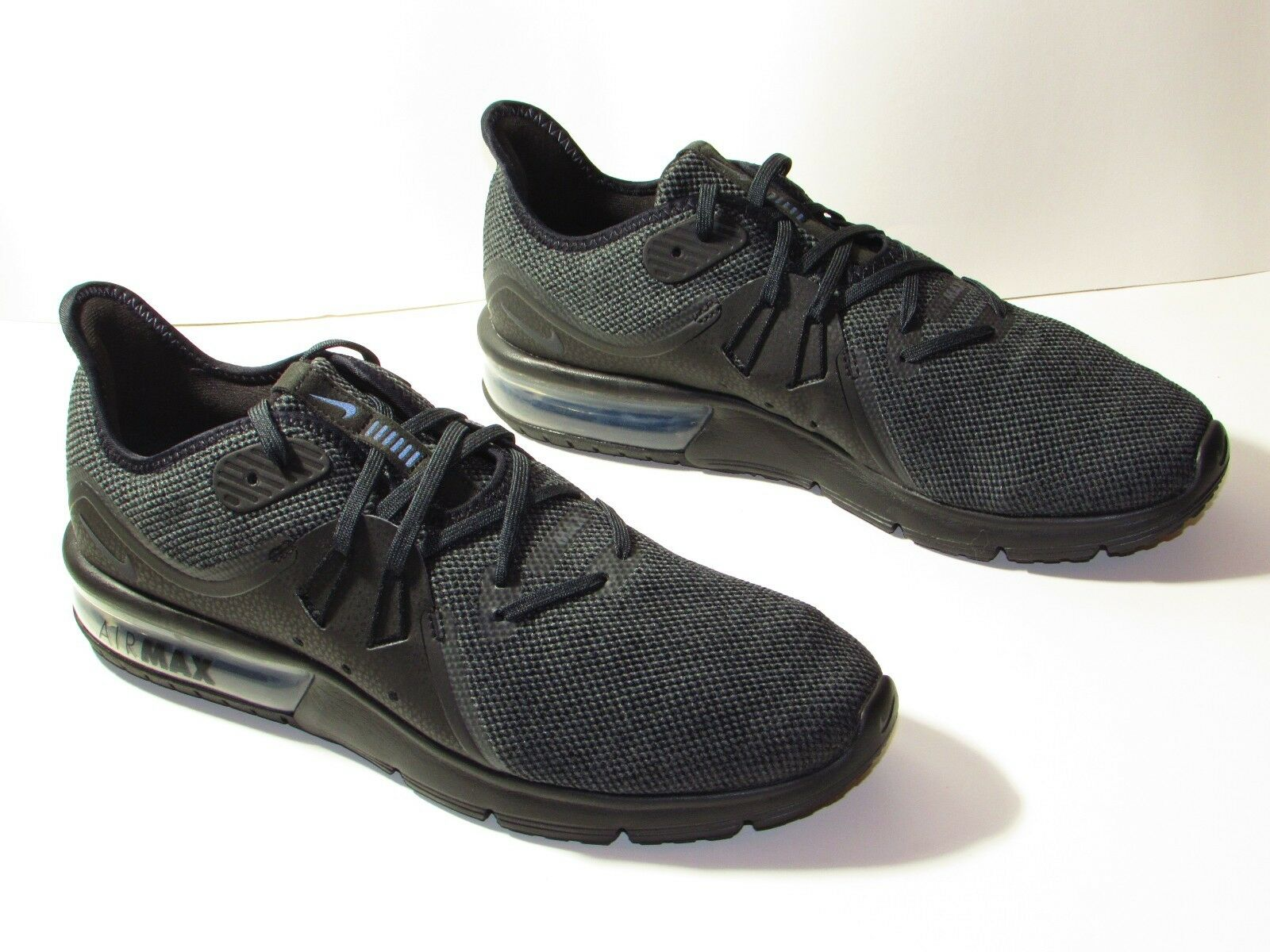 Men's Nike Air Max Sequent 3 Running Shoe Black/Anthracite 921694 010 Size US 9