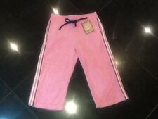 NWT Juicy Couture New & Gen. Girls Age 8 Pink Crop Leg Towelling Pants With Logo