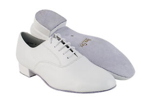 Mens Latin Salsa Very Fine Ballroom Wedding Dance Shoe 919101 White Leather