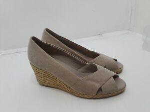 cdca7cca6dd Chaps Dakoda Espadrille Womens Size 9 B Wedge Heels Open Toes Shoes ...