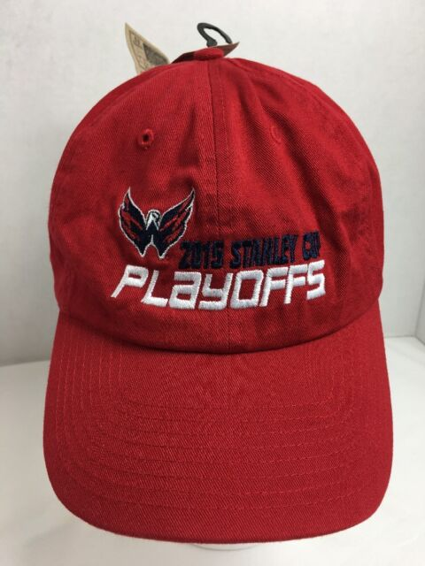Capitals 2015 NHL Playoffs Hat NWT Washington Red Strapback Hockey ... 5e839c43d60