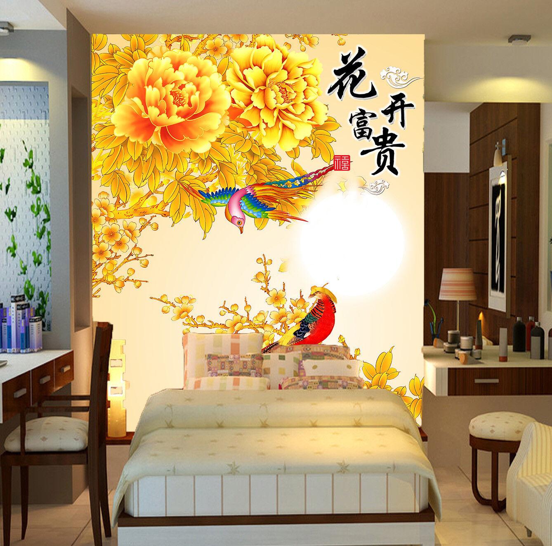 3D Phoenix PfingstRosa  742 Tapete Wandgemälde Wandgemälde Wandgemälde Tapete Tapeten Bild Familie DE | Sehr gute Farbe  | Won hoch geschätzt und weithin vertraut im in- und Ausland vertraut  |  33ac48