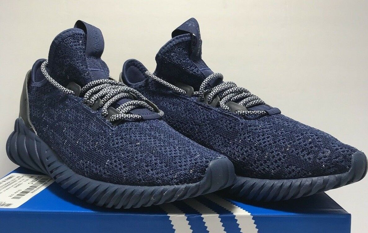 Adidas Mens Size 12 Tubular Doom Sock Primeknit Indigo bluee Athletic shoes New