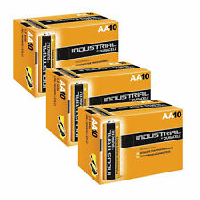 30 Duracell Industrial AA Size 1.5V Alkaline Professional Performance Battery HQ