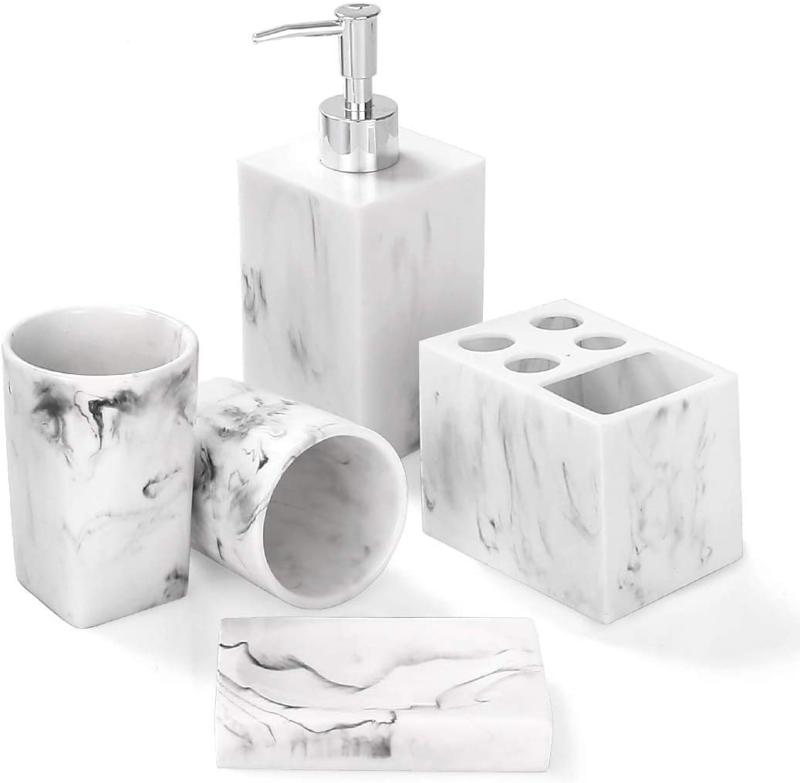 Luxury Michelangelo Marble 7 Piece Bathroom Accessories Set For Sale Online Ebay