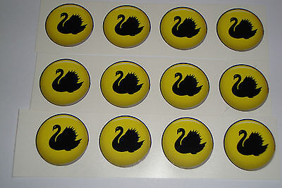"12  Yellow STICKERS 1/"" CROWN GREEN BOWLS LAWN BOWLS FLATGREEN  INDOOR BOWLS"