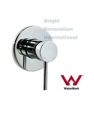 Brand New Round Cylinder WELS Bathroom Shower Bath Wall Flick Mixer Tap Faucet