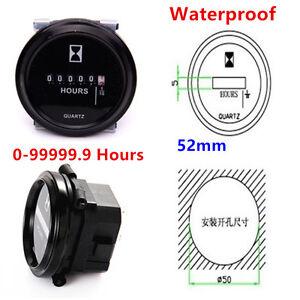 52mm-Round-Quartz-Hour-Gauge-Meter-Hourmeters-Car-ATV-Truck-Boat-Tractor-8V-80V