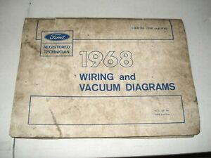1968 FORD CAR & TRUCK WIRING DIAGRAMS ELECTRICAL SERVICE ...