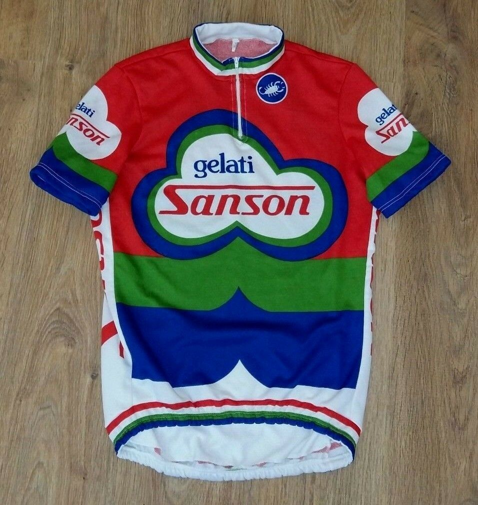 Sanson Gelati Castelli very rare vintage cycling jersey Dimensione 4 L