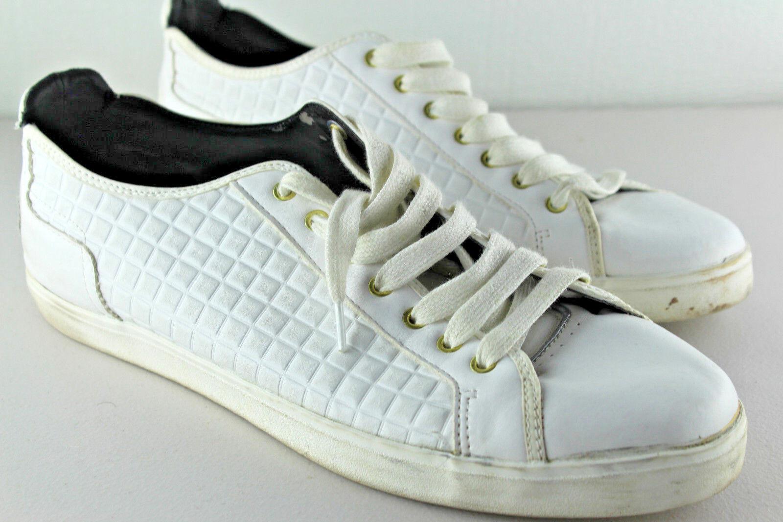 moda ZARA ZARA ZARA Uomo bianca Quilted Leather Trainer scarpe da ginnastica Portugal Sz EU 45 US 12  esclusivo