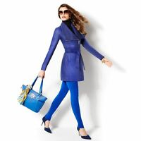 Iman Leather Platinum Forever Luxury & Knit Blue Jacket 3x With Tags.
